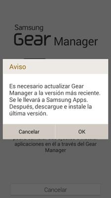 Como actualizar Galaxy Gear, el reloj inteligente de Samsung paso 3