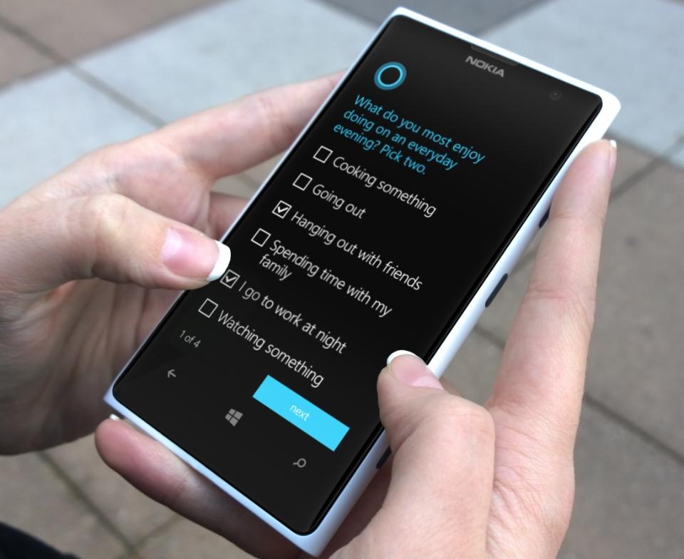 Instalación y actualización de Cortana en un dispositivo móvil 3